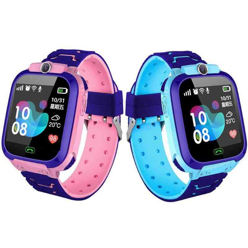 Children's Sos Phone Smart Watch - Support Sim Card Photo, 400mah Battery