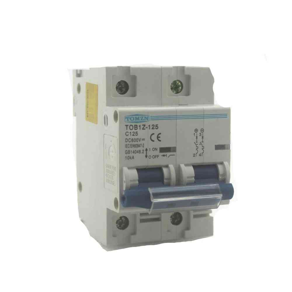 2p, 125a Dc 600v - Circuit Breaker For Pv System