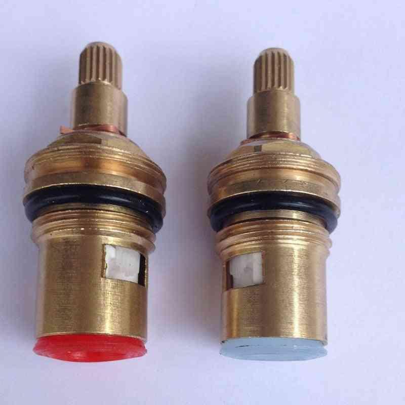 18mm Brass Replacement Ceramic Disc Tap Valves - Cartridges Innards Hot & Cold