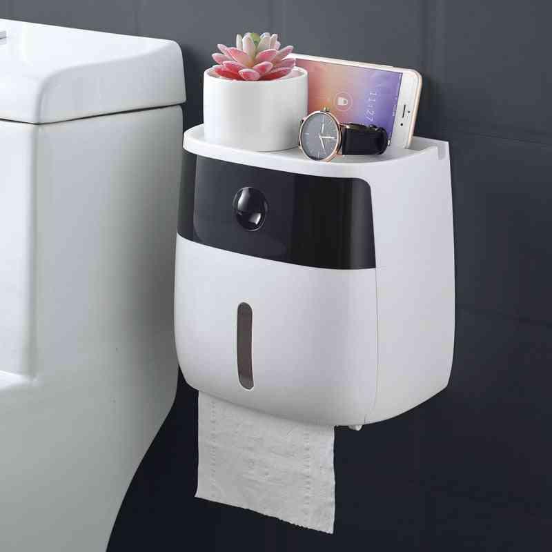 Creative Waterproof, Wall Mount Toilet Paper Holder - Storage Box