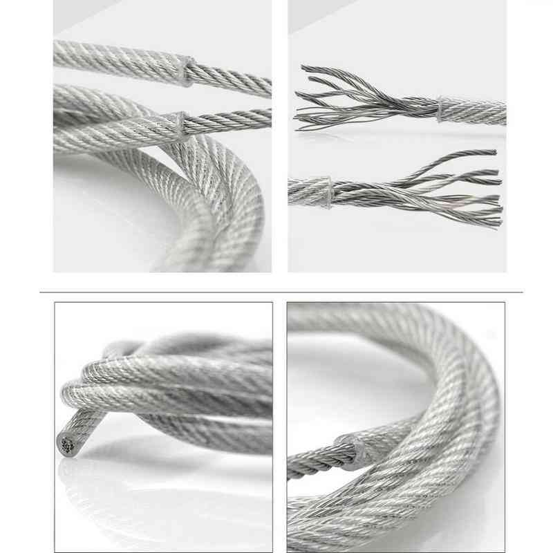 304 Stainless Steel Wire Rope With Clear Pvc Plastic Coating