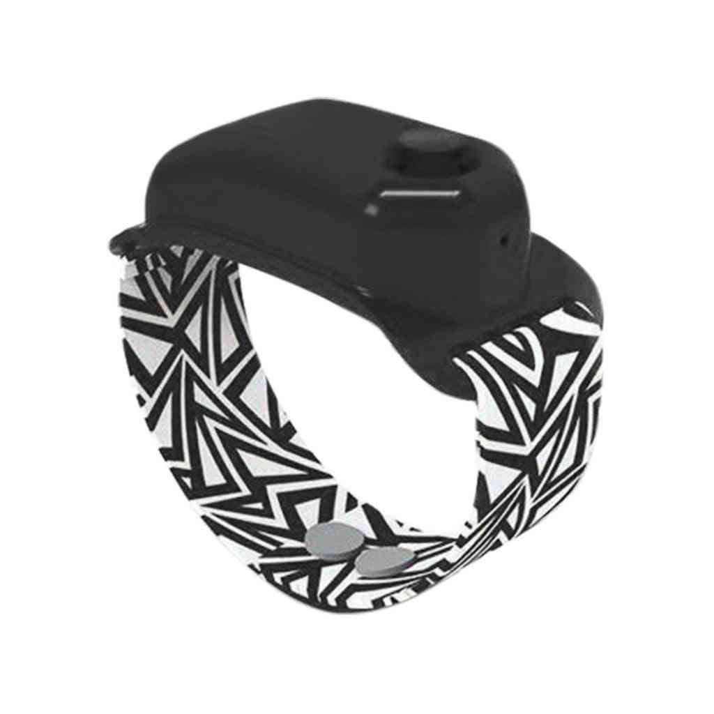 Portable Wrist Band Sanitizer Dispenser-bracelet With 10ml Storage Capacity For Outdor