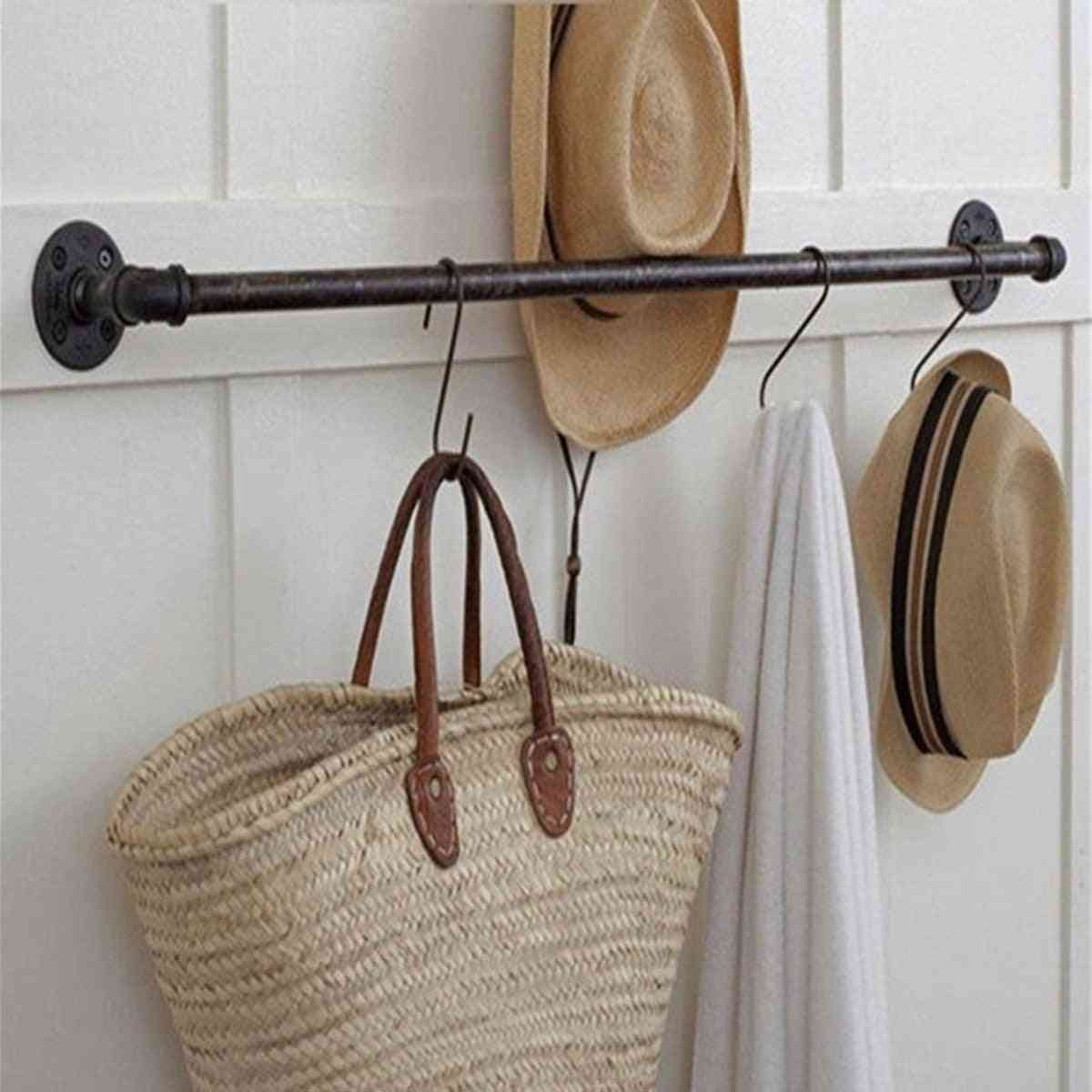 Retro Style, Wall Mounted-towel Rack With Screws