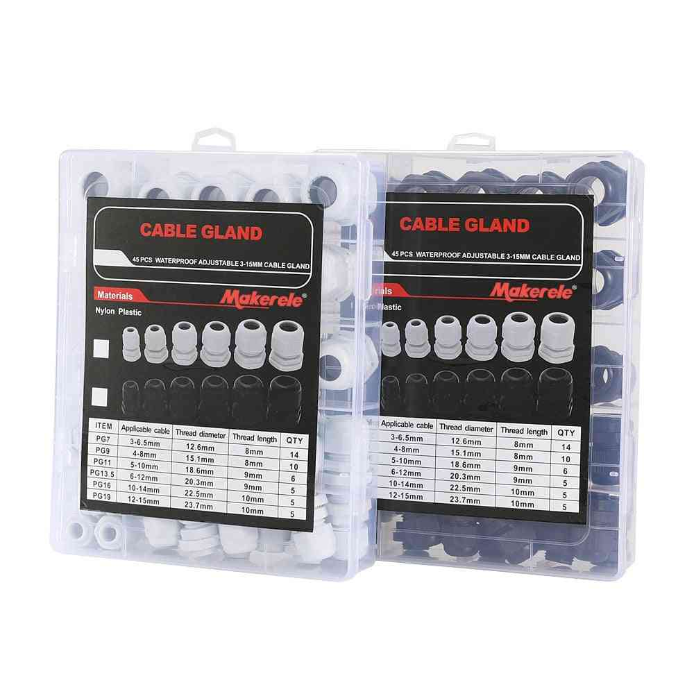 Makerele Cable Gland Kit- Plastic Waterproof Adjustable  Joints