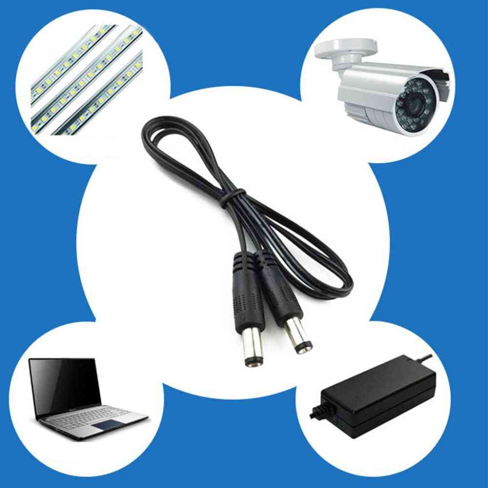 Dc Power Plug -male Cctv Adapter Connector, Cable Extension Cords