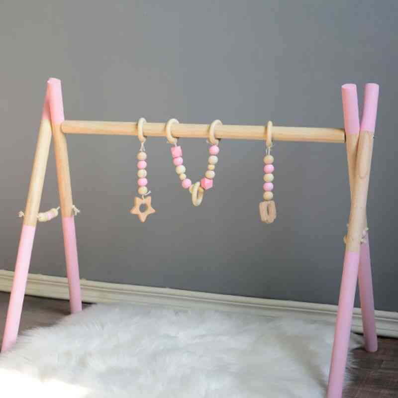 Nordic Style, Solid Wood, Gym, Fitness Rack For Room- Decoration Toy