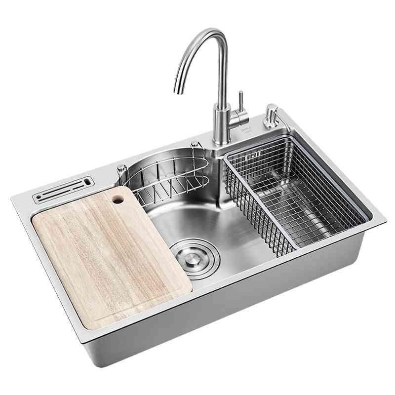 1.2mm Thickness Brushed Multifunctional, Single Bowl Udermount Sinks