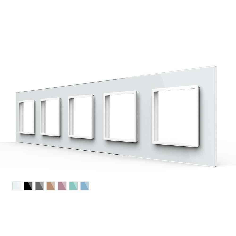 Quintuple Glass Panel For Wall Socket