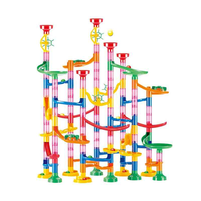 Construction Marble Run Race Track Building Blocks, For