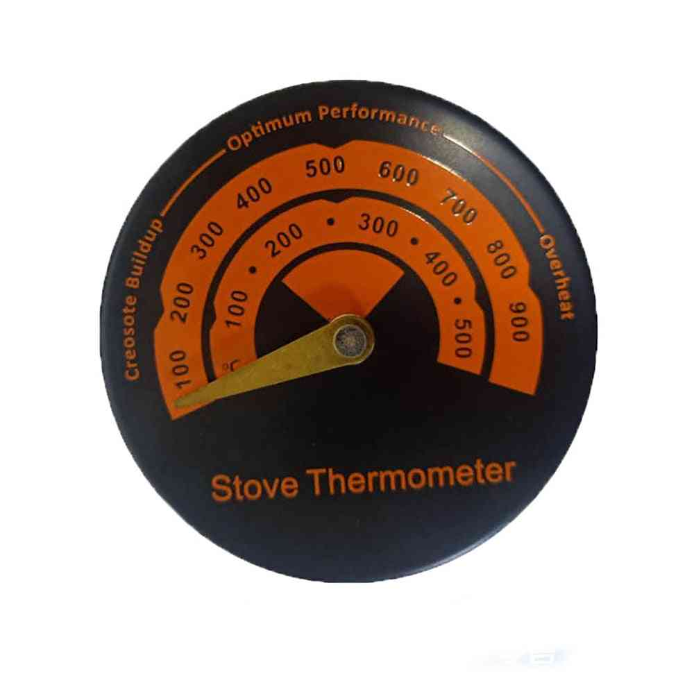 Magnetic Stove Thermometer, Heat Powered For Wood Log Burning