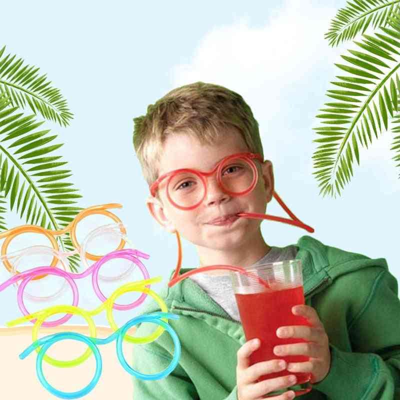 Soft Plastic Straw Glasses - Flexible Drinking Party Joke Toy