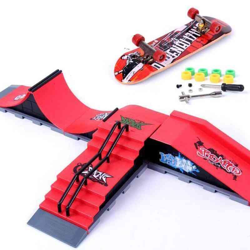Finger Skateboards And Ramp Parts Set For Tech Practice