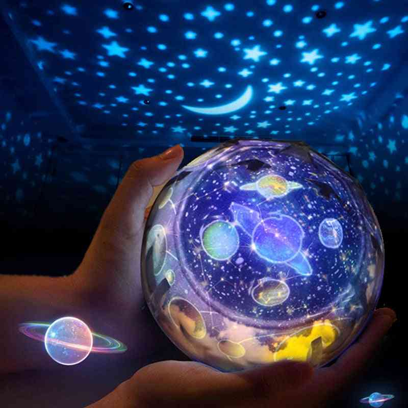Multi Functional Starry Sky Projector, Earth/universe Displaying Rotating Led Lamp