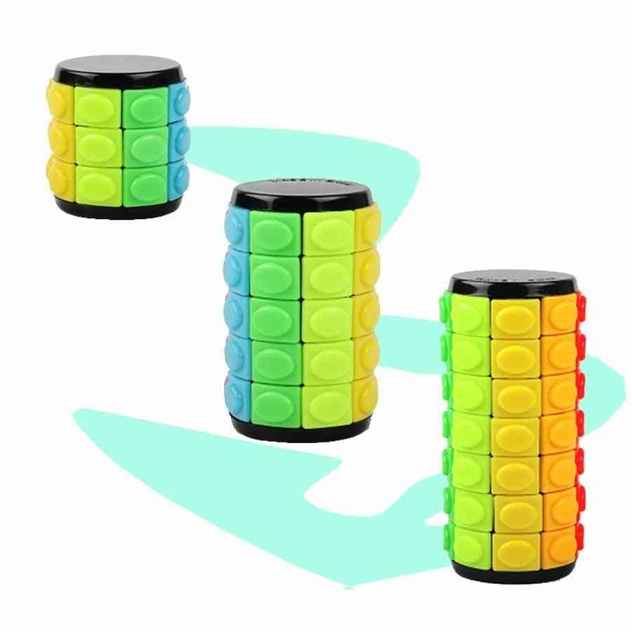3d Rotate, Slide Babylon Tower, Cylinder Sliding Puzzle Sensory Toy