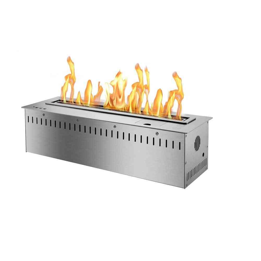 Co2 Shake-off Sensor, Smart Bio Ethanol Fireplace With Remote Control