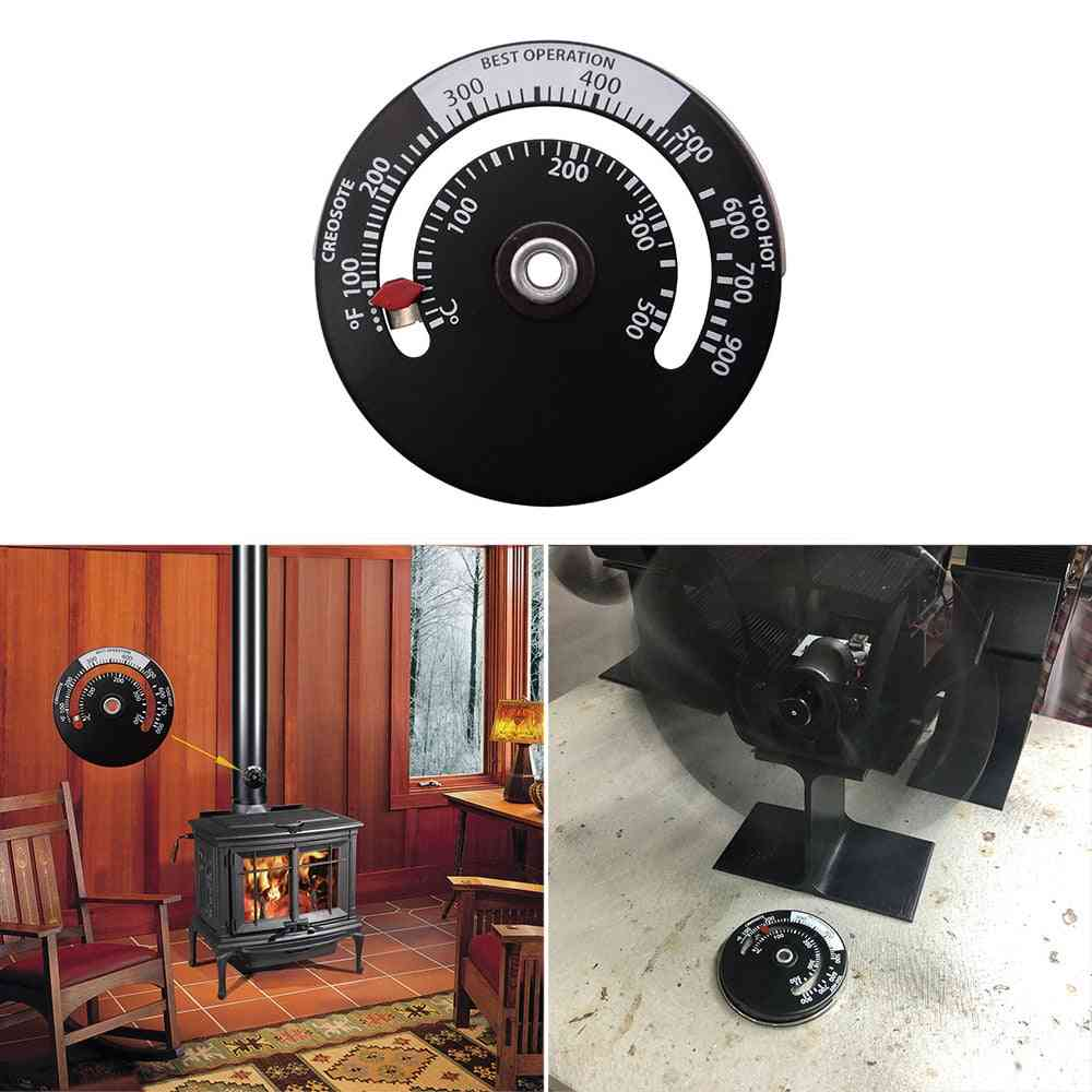 Wood Stove Thermometer For Fireplace Fan
