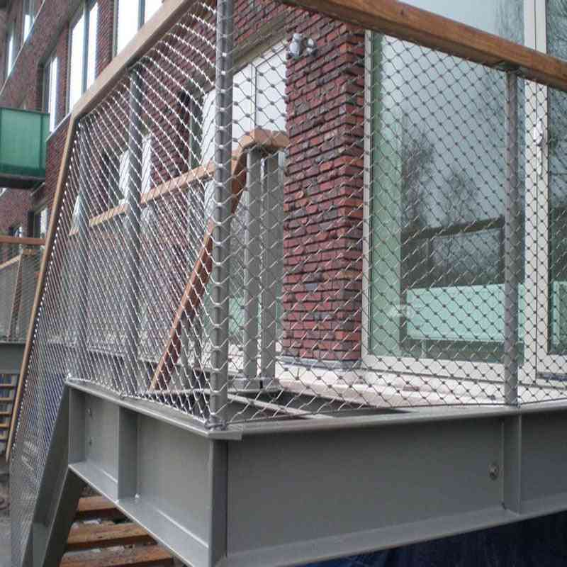 Flexible Balustrade, Stainless Steel Cable Netting For Balcony/stairway And Garden