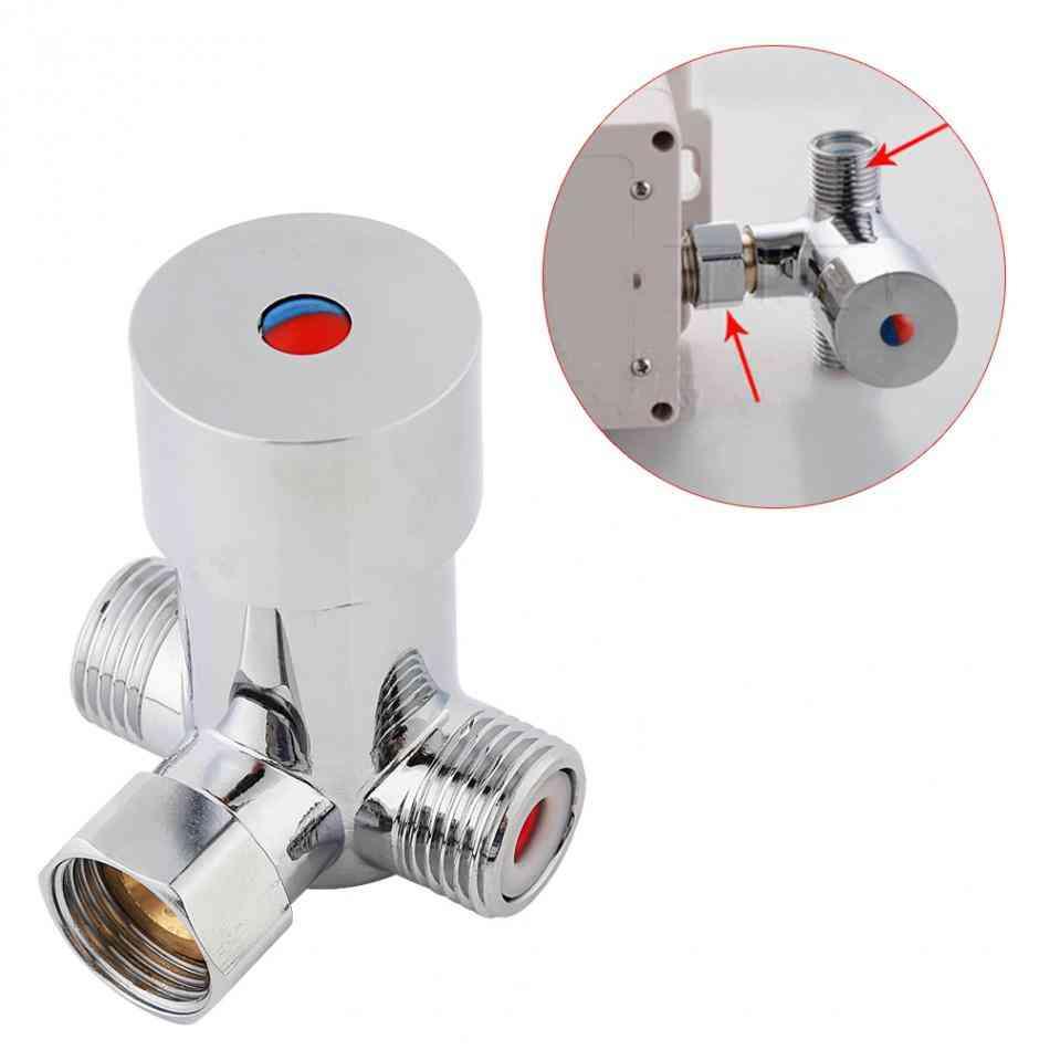 G1/2 Hot Cold Water Mixing Valve, Valver Thermostatic - Mixer Adjustable Temperature Control