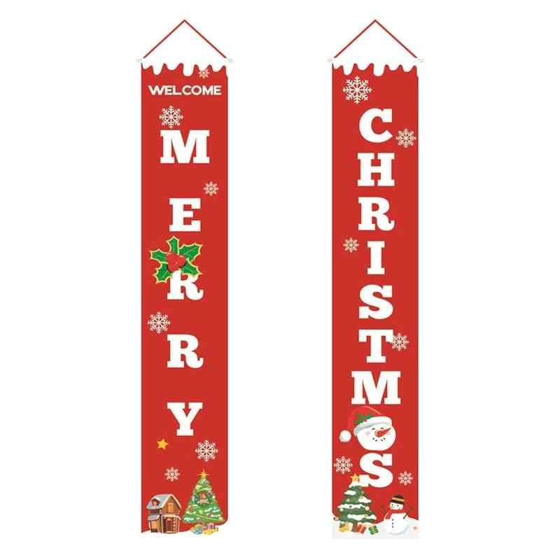 Banner Christmas Porch Fireplace Wall Signs Flag For Decorations Outdoor / Indoor