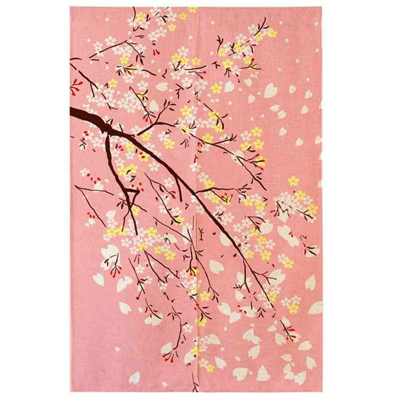 Cherry Blossom, Japanese Fabric Printing Tapestry Road Shower Curtain