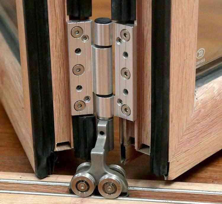 Hench Wooden Aluminum Windows Bi-folding Door