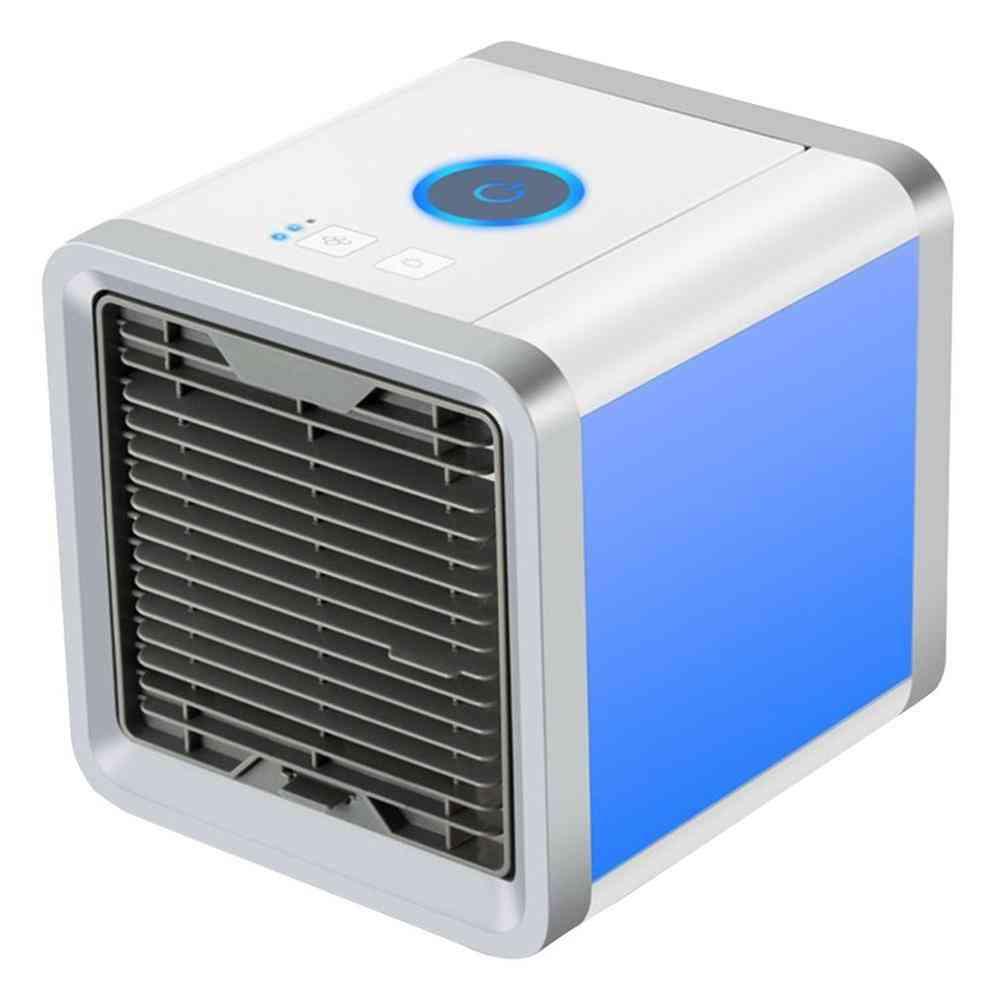 7 Light Usb Mini Portable Air Cooler Fan -desktop Personal Space