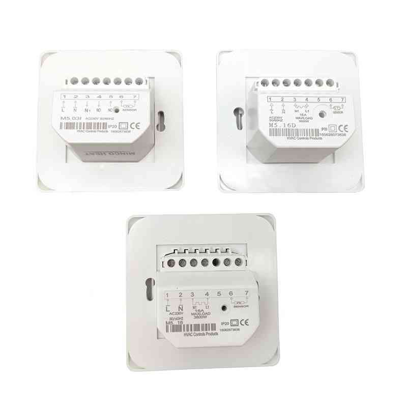 M5 220v 16a 3a Rtc 70 Minco Heat Water, Electric Floor Heating Manual Room Thermostat Cable & Temperature Controller