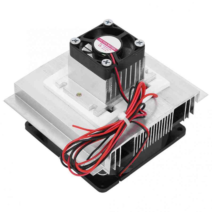 Xd-35 12v 60w Thermoelectric Plate Module Cooling System Diy Kit For Small Space With Cold End Fan