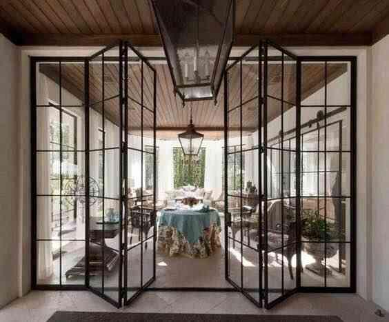 Frame Metal Modern Door Replacement Glass Steel For Windows