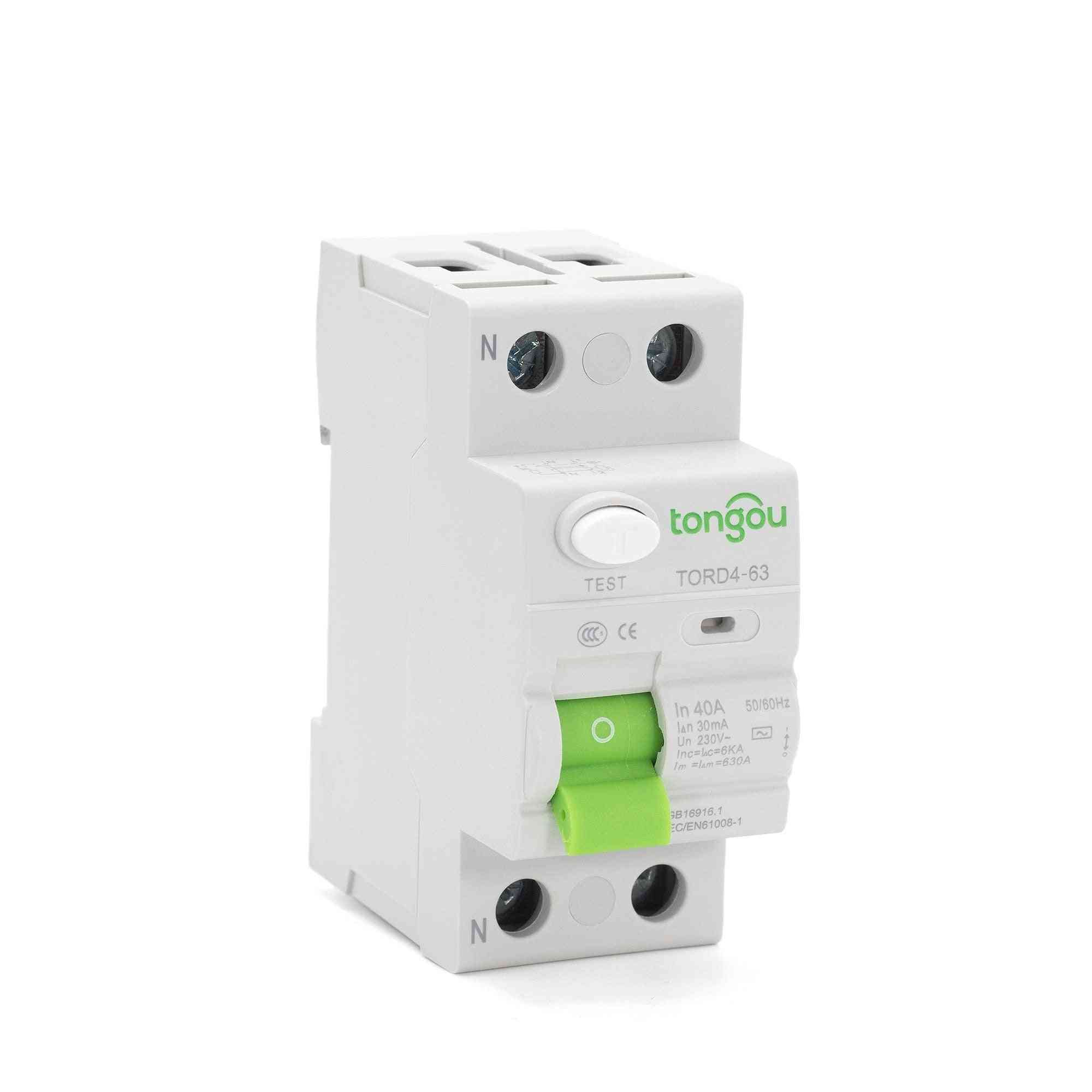 Residual Current Circuit Breaker With Safety Switch