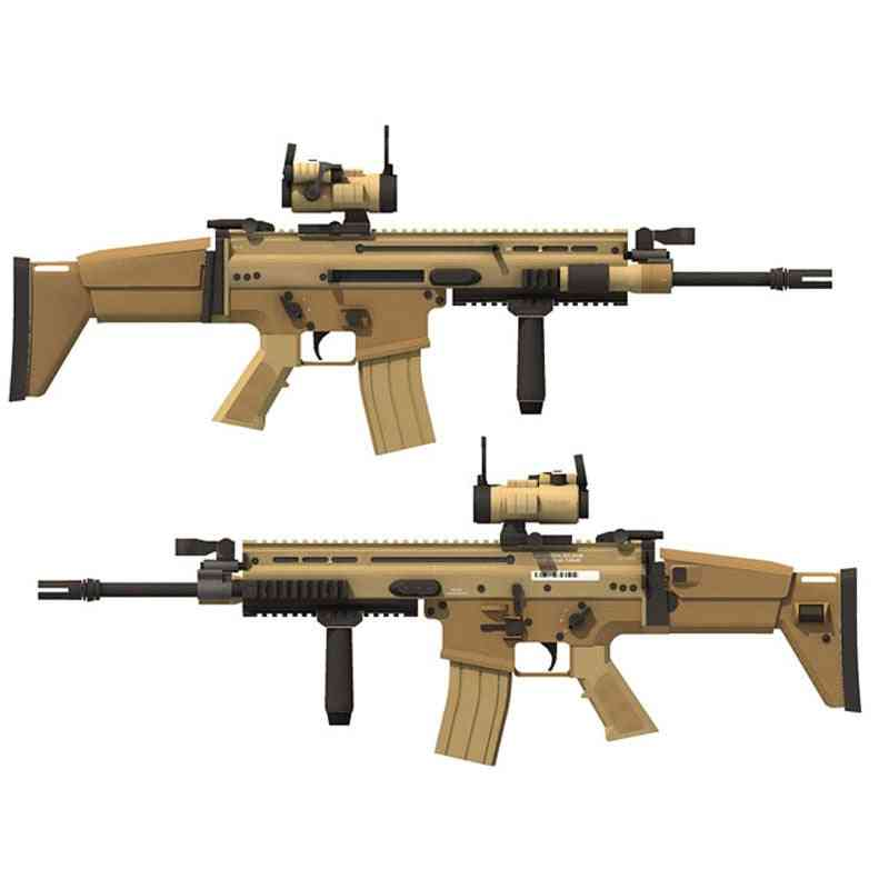98cm 1:1 Scar Rifle Gun -classic Cosplay Props, Toy For Kids Adults