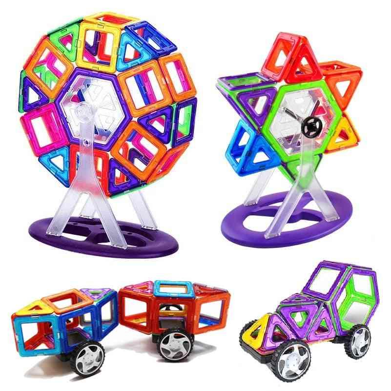 Diy Building Bricks Accessory, Construct Magnet Model Toy