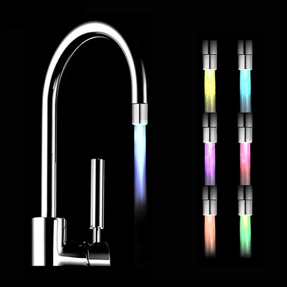 Luminous Shining Led Head Light-up Nozzle For Water Tap