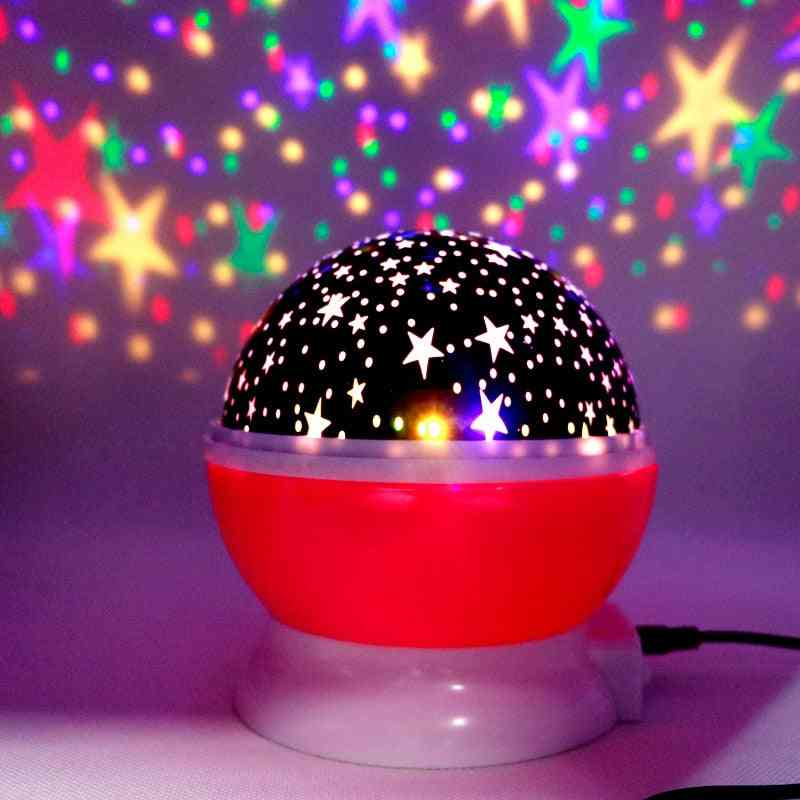Led Rotating, Starry Sky And Moon Projector Lighting