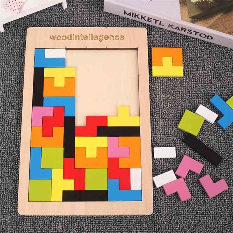 Intellectual And Educational-colorful 3d Puzzle - Wooden Toy For Pre School Kids