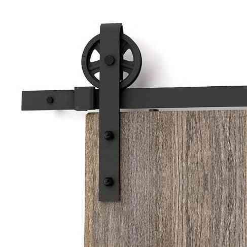 Vintage Wheel Sliding Barn For Wood Door Interior Closet Track System Hardware