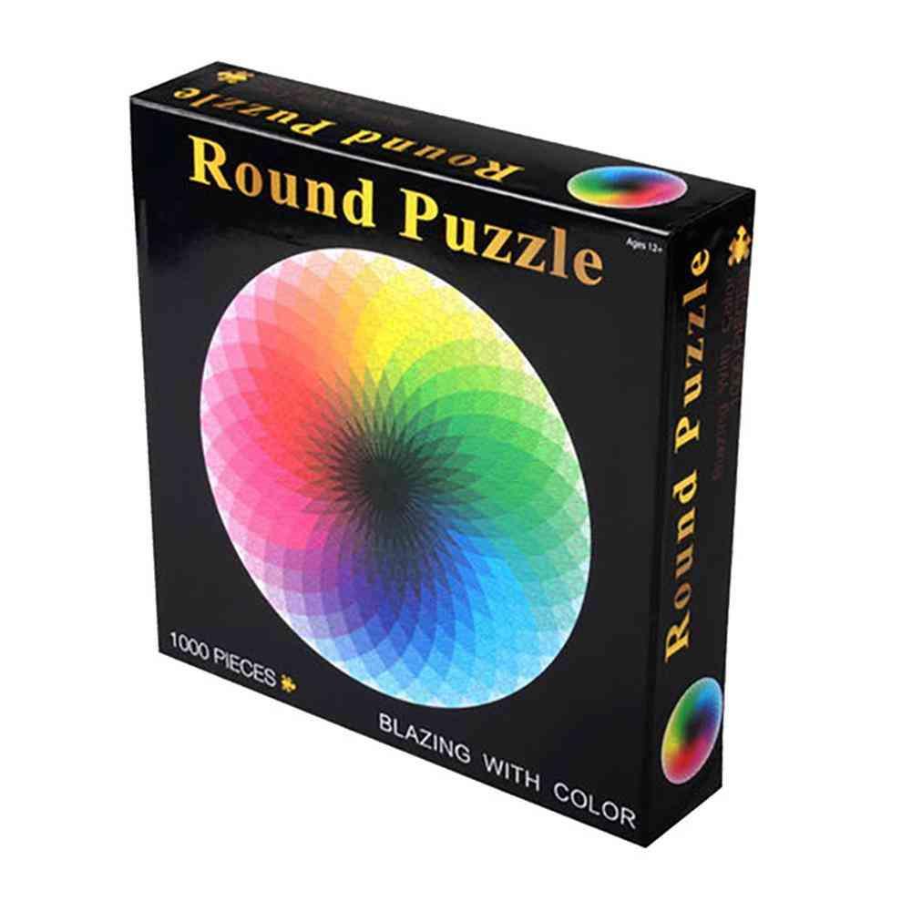 Rainbow Round Geometrical Photo Puzzle