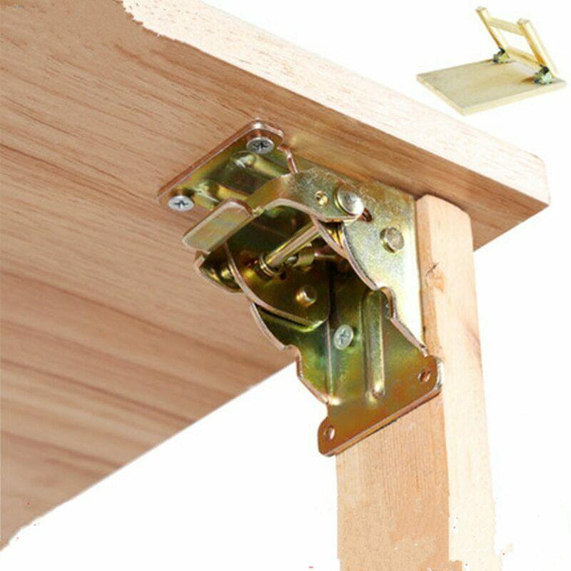 Iron Folding Hinge - Table Leg Brackets - Extension Self Locking