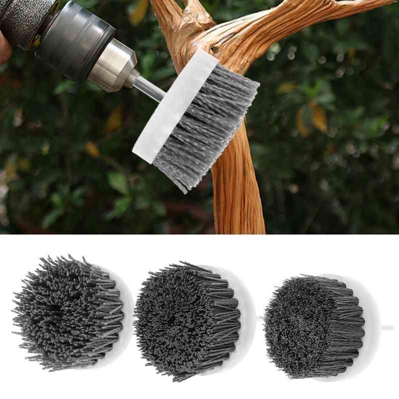 Deburring Abrasive, Steel Wire Brush - Head Polishing, Nylon Wheel Cup Shank