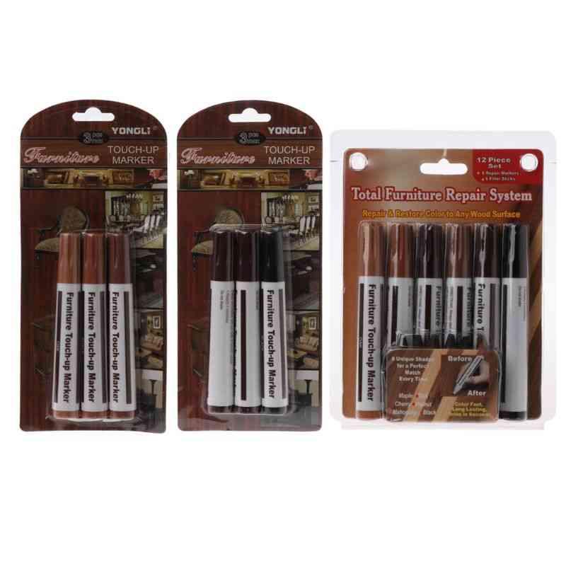 Wood Repair System Kit, Filler Sticks Touch Up Marker
