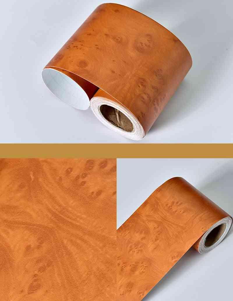Wood Marble Baseboard Waterproof Wall Stickers, Self-adhesive