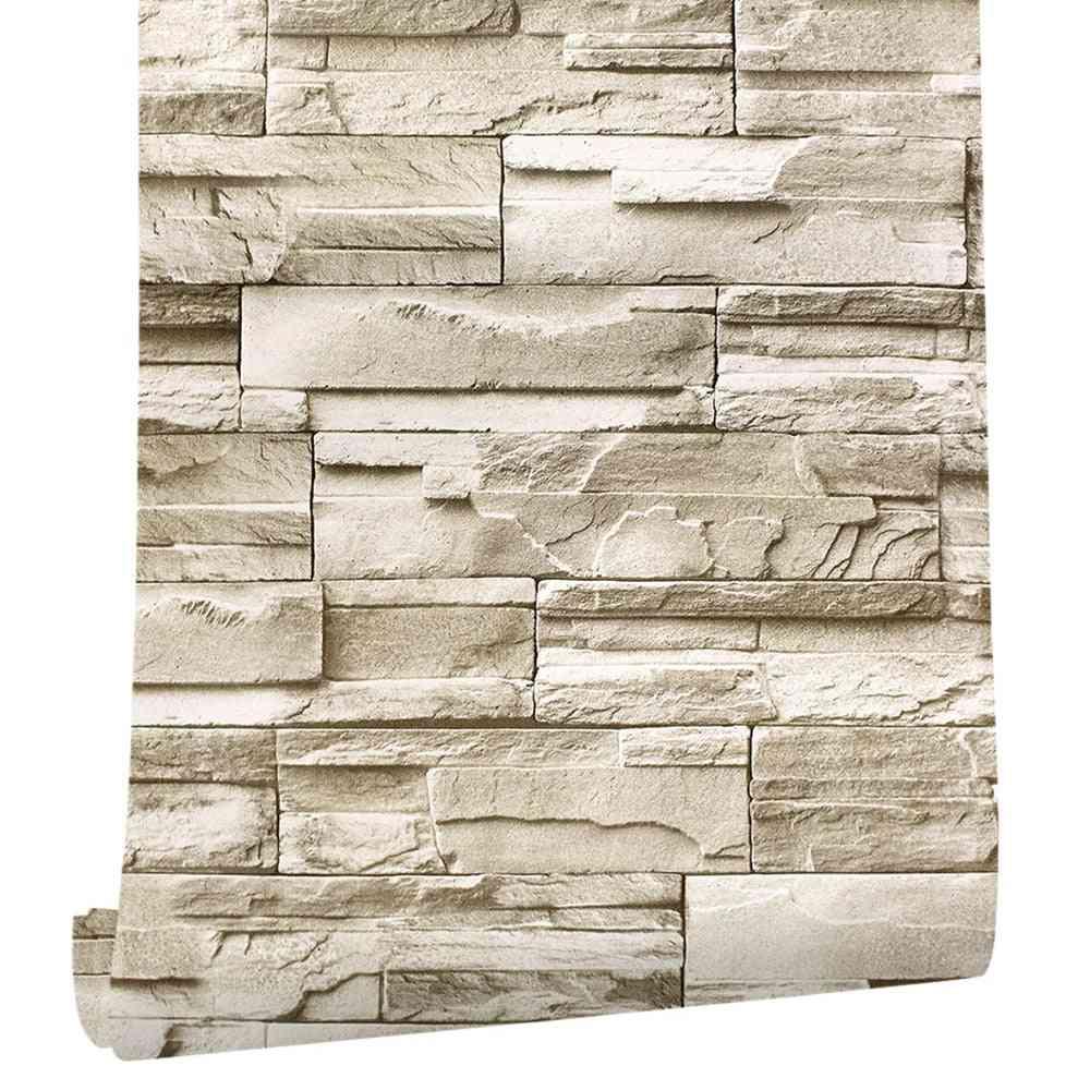 Brick Pattern Vinyl Self-adhesive-3d Wallpaper For Bedroom/living Room