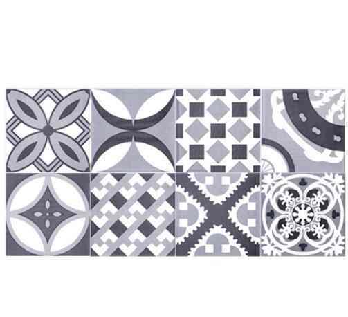 1 Roll 0.2x5m Retro Mosaic Tiles, Waist Line Wall Sticker, Wallpaper