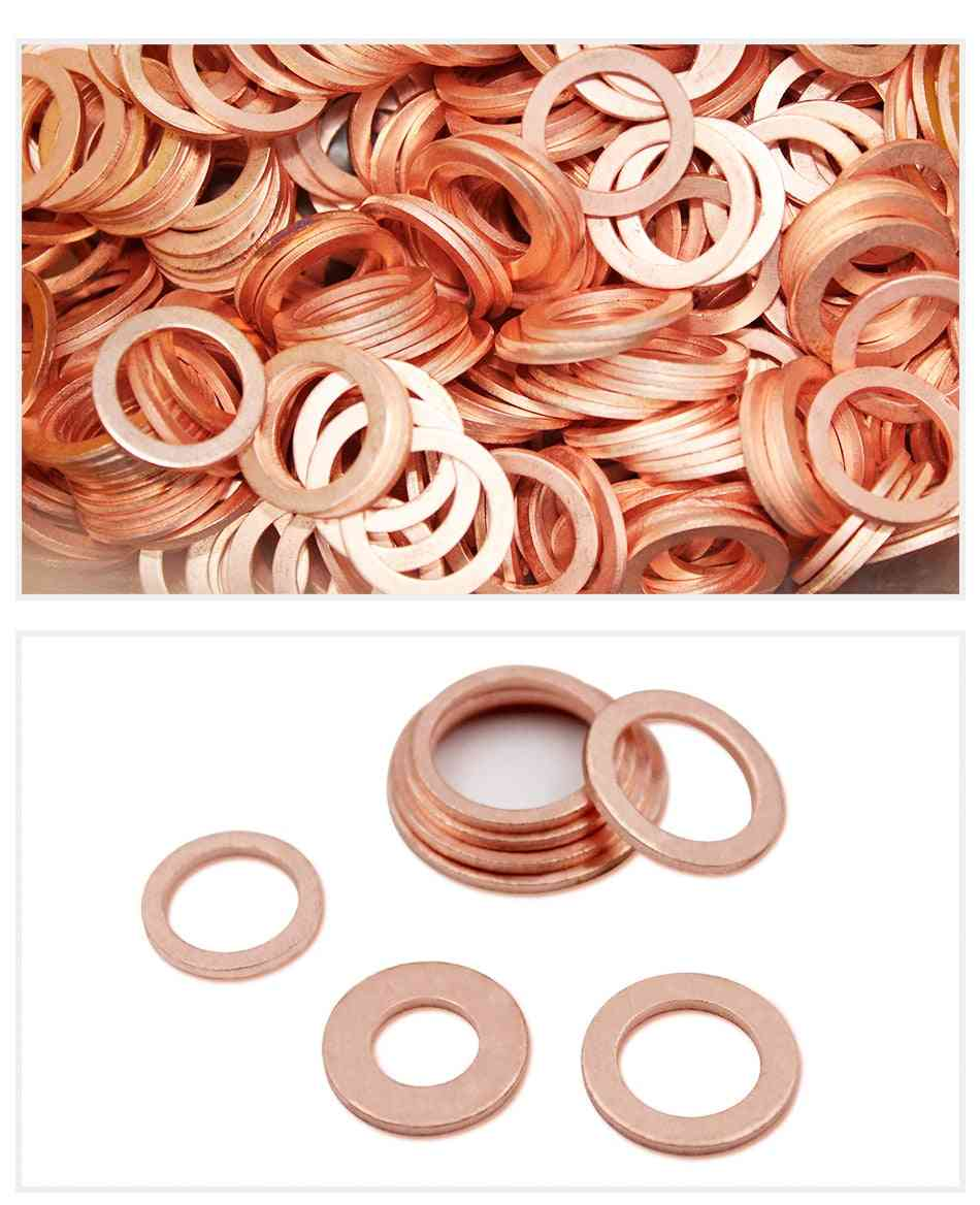 10pcs  Of Copper Flat O Ring Washer/gasket