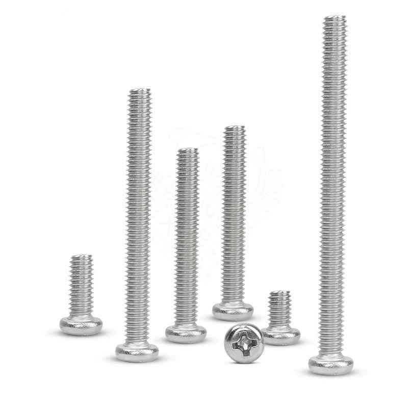 304 Stainless Steel Cross Recessed Pan Head Screws