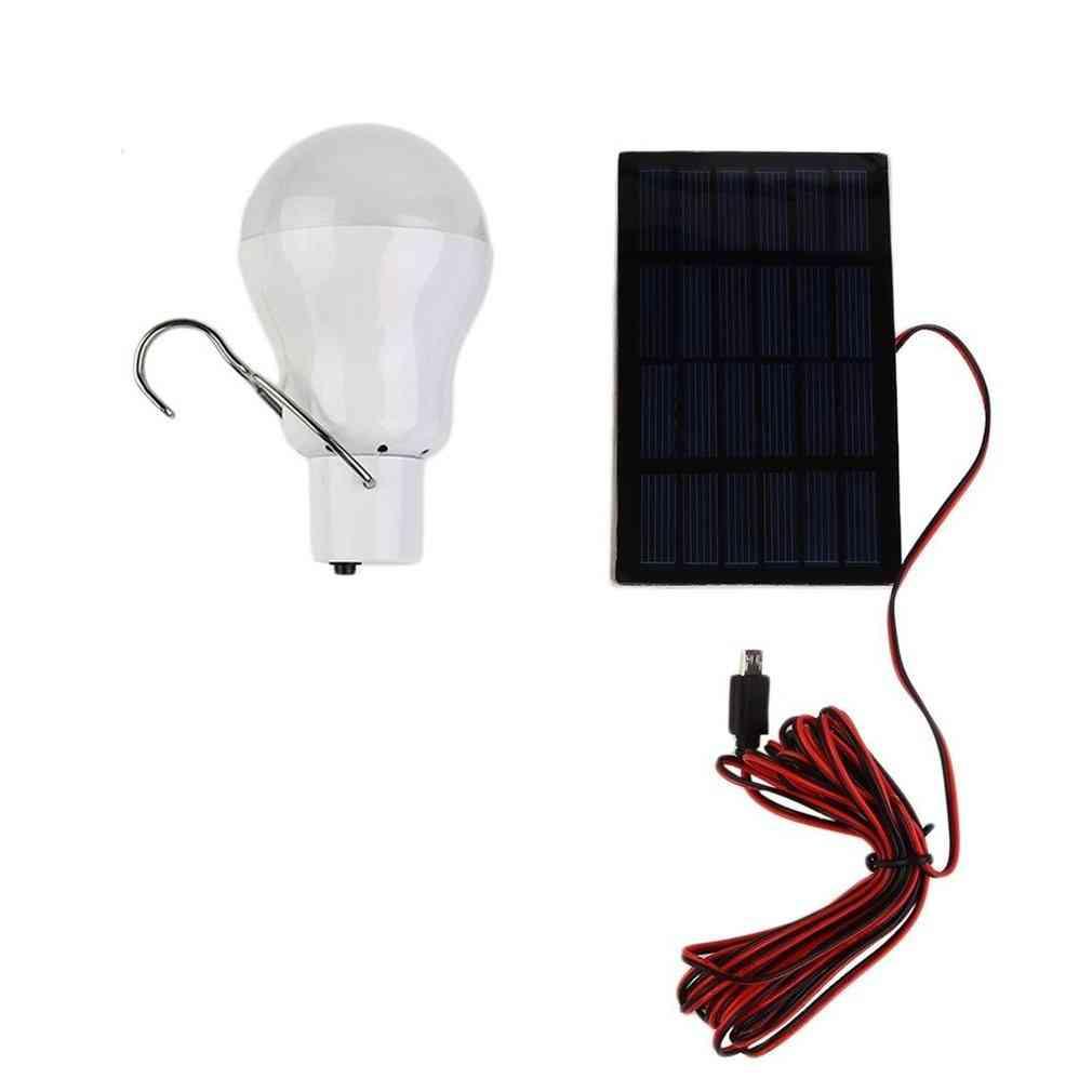 Portable, Solar Powered Emergency Bulb