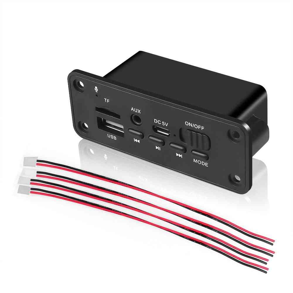 Dc 5v Bluetooth Mp3 Decoder Board, Usb Wireless 3w Amplifier For Car