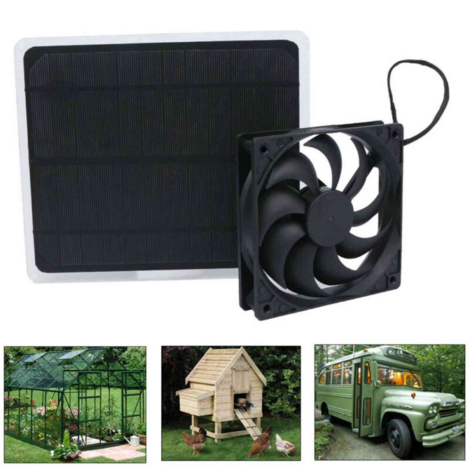 Solar Powered Panel And Fan For Home, Office, Outdoor, Traveling