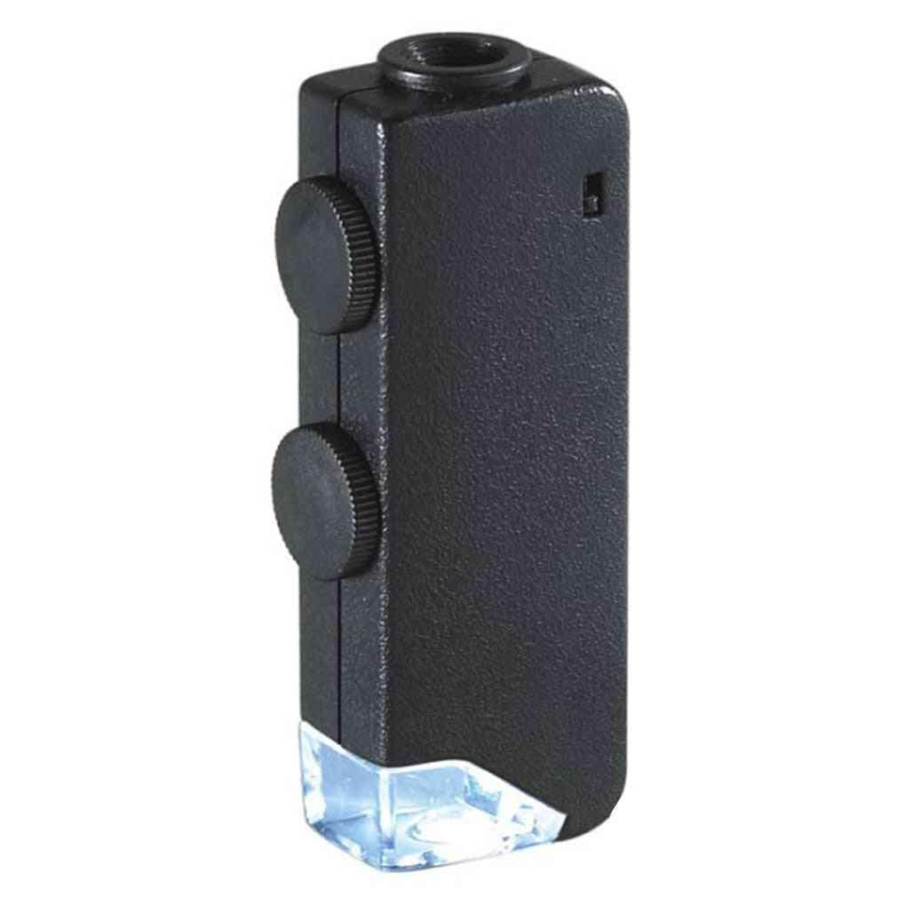 Mini Illuminated Zoom Pocket, Microscope Magnifier