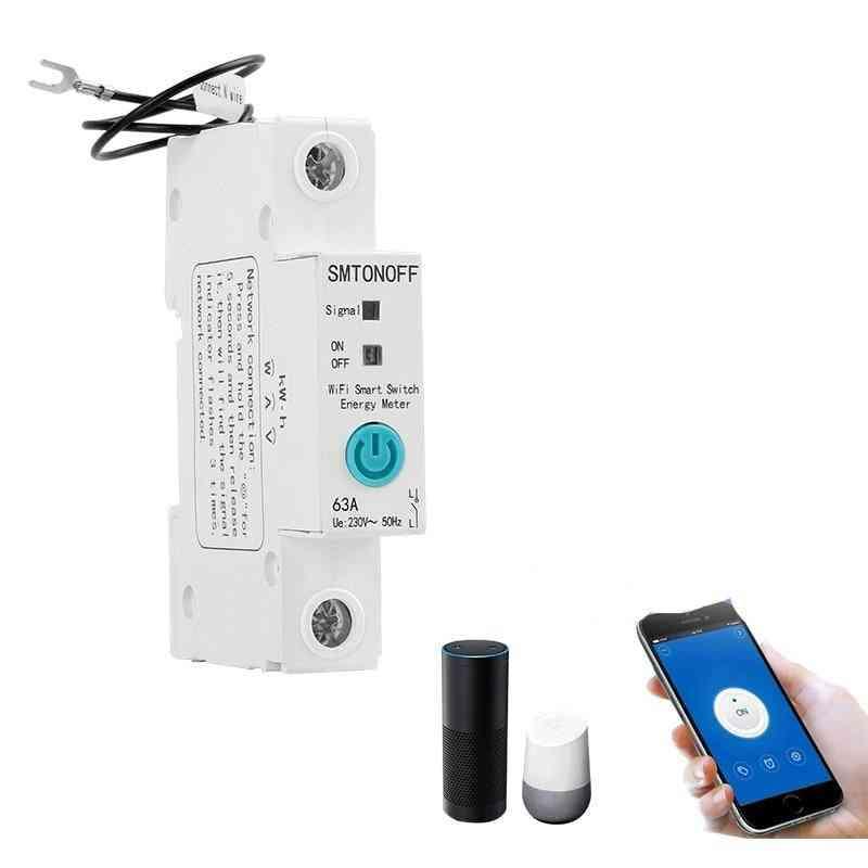 Single Phase Din Rail -wifi Smart Energy Meter Power Consumption